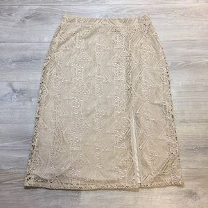 Chico's Lace Skirt